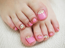 FOOTピンクネイル★|petit bois -Nail-のネイル