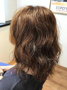 ゆるふわセミディパーマ hair spa kalamaのヘアスタイル