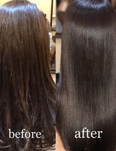 before after 髪質改善ヘアエステサロン memoriaのヘアスタイル