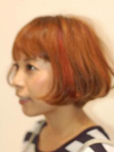 オレンジボブ|Relation hair designのヘアスタイル
