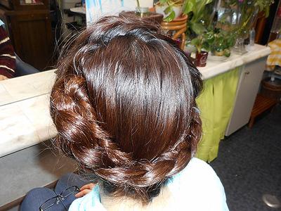 ヘアセット(編み込み)|美容専科さちこのヘアスタイル