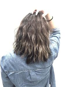 【LILY】バイオレットグレージュ☆|LILY SHINSAIBASHIのヘアスタイル