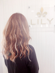 【LILY】 ピンクベージュ|LILY SHINSAIBASHIのヘアスタイル