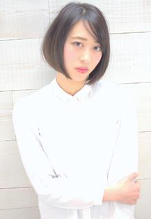 ★MUSEUM★大人系ボブ 前下がり 三村昇|MUSEUMのヘアスタイル