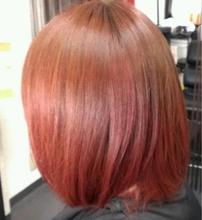 グラデーションカラー レッド|BAKARA HAIR 北花田のヘアスタイル