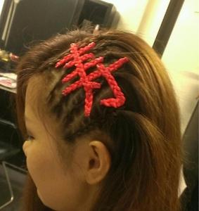 エクステアートコーンロウ|BAKARA HAIR 北花田のヘアスタイル