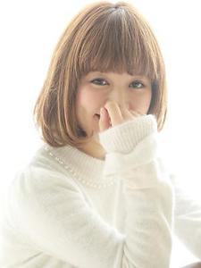 ☆美ツヤ☆ワンカールボブ|bat hair 渋谷のヘアスタイル