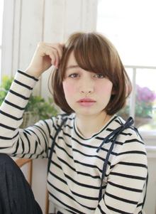 今っぽいラウンドボブ|Lauburu 渋谷 bat hairのヘアスタイル