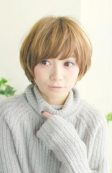 マッシュショートで可愛らしさUP!|Lauburu 渋谷 bat hairのヘアスタイル