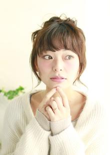 ♪ゆるふわシニョン♪|Lauburu 渋谷 bat hairのヘアスタイル