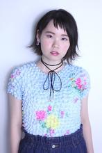 ソトハネインカラーボブ|9P 岩松 美保のヘアスタイル