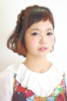 編み込み☆ボブアレンジ|9Pのヘアスタイル