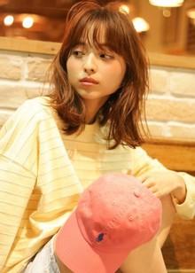 シースルーバング+外ハネラフセミディ☆|9Pのヘアスタイル