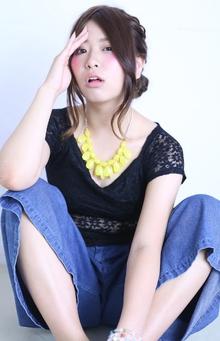 編み込み×サイドシニヨン|florun.のヘアスタイル
