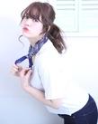 簡単アレンジざっくりポニー|florun.のヘアスタイル