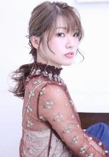 編み込みローポニー|florun. 早川 真妃のヘアスタイル