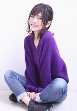 ねじり編み込みのハーフアップ|florun.のヘアスタイル