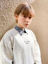 大人かわいい小顔耳かけコンパクトショート|THOiRY 栄のヘアスタイル