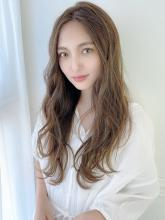ナチュラルウェーブロング|THOiRY 栄 坂元 秀人のヘアスタイル