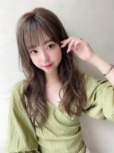 大人かわいい美髪バングフェミニンロング|THOiRY 栄 古山 瞳のヘアスタイル