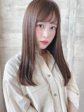 大人かわいい美髪小顔バングフェミニンロング|THOiRY 栄 古山 瞳のヘアスタイル