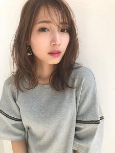 似合わせ小顔艶髪ゆる巻きセミロング|THOiRY 栄のヘアスタイル