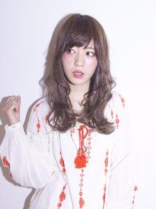 外ハネランダムカール|Calm Hair 阪急淡路店のヘアスタイル