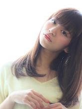 ワンカールストレート|Calm Hair 阪急淡路店 中垣 彩のヘアスタイル