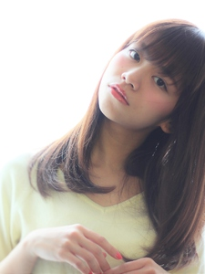 ワンカールストレート|Calm Hair 阪急淡路店のヘアスタイル