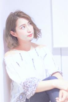幼く見せない大人のボブアレンジ|Calm Hair 阪急淡路店のヘアスタイル