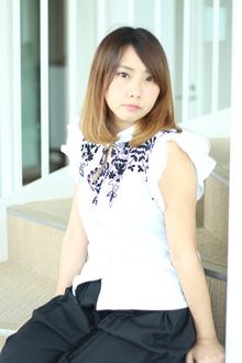 アッシュグラデボブ|Calm Hair 阪急淡路店のヘアスタイル