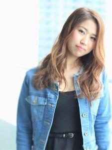 小顔可愛いロングヘア|Calm Hair 阪急淡路店のヘアスタイル
