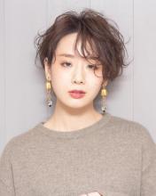 ハンサムウェーブショート|Chlori 淡路店のヘアスタイル