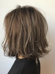 ミントグレーボブ|Chlori 淡路店のヘアスタイル