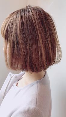 まろやかベージュBob|Chlori 淡路店のヘアスタイル