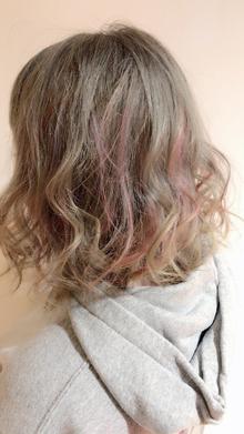 グレージュ×オフピンク|Chlori 淡路店のヘアスタイル