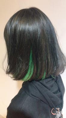 ダークグレイッシュグリーン|Chlori 淡路店のヘアスタイル