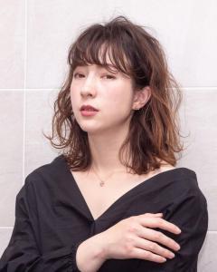 ミディアムカールスタイル|Chlori 淡路店のヘアスタイル