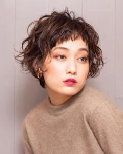 エレガントカールショート|Chlori 淡路店のヘアスタイル