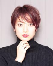 艶ボルドーショート Chlori 淡路店 中垣 彩のヘアスタイル