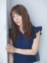 Aライン×波ウェーブ|ROLA 北梅田店のヘアスタイル