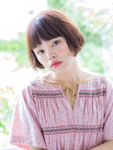 艶髪ショートボブ♪ヴァイオレットカラーがアクセント!|ROLA 北梅田店のヘアスタイル