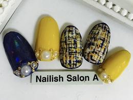 2016秋冬ネイル/ツイード|Nailish Salon Aのネイル