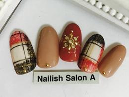 2016秋冬ネイル/チェック|Nailish Salon Aのネイル