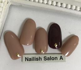 秋冬ネイル/シンプルワンカラー|Nailish Salon Aのネイル