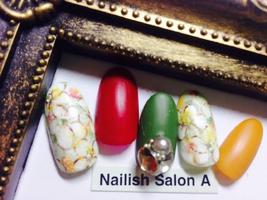 2016秋/マットフラワー|Nailish Salon Aのネイル