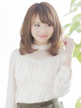 大人かわいいミディアムヘア |AUTRE by FUGA hair 綱島店 田代 充のヘアスタイル