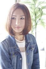 シンプルなのに印象的☆女子力高いナチュラルボブ☆|cozy resort by ANT'Sのヘアスタイル