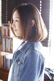 シンプルなのに印象的☆女子力高いナチュラルボブ☆