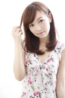 大人可愛いフェミニンロブ|ANT'S Southern-Resort 茅ヶ崎店のヘアスタイル